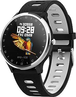 QKa Reloj Inteligente con ECG + PPG IP68 A Prueba De Agua para Hombres Y Mujeres, La Actividad Rastreador De Ejercicios para Android/Samsung/iPhone, Smartwatch con 1,22