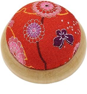 ynuth aguja Pin cojín redondo de accesorios de costura Aguja alfiletero con base de madera
