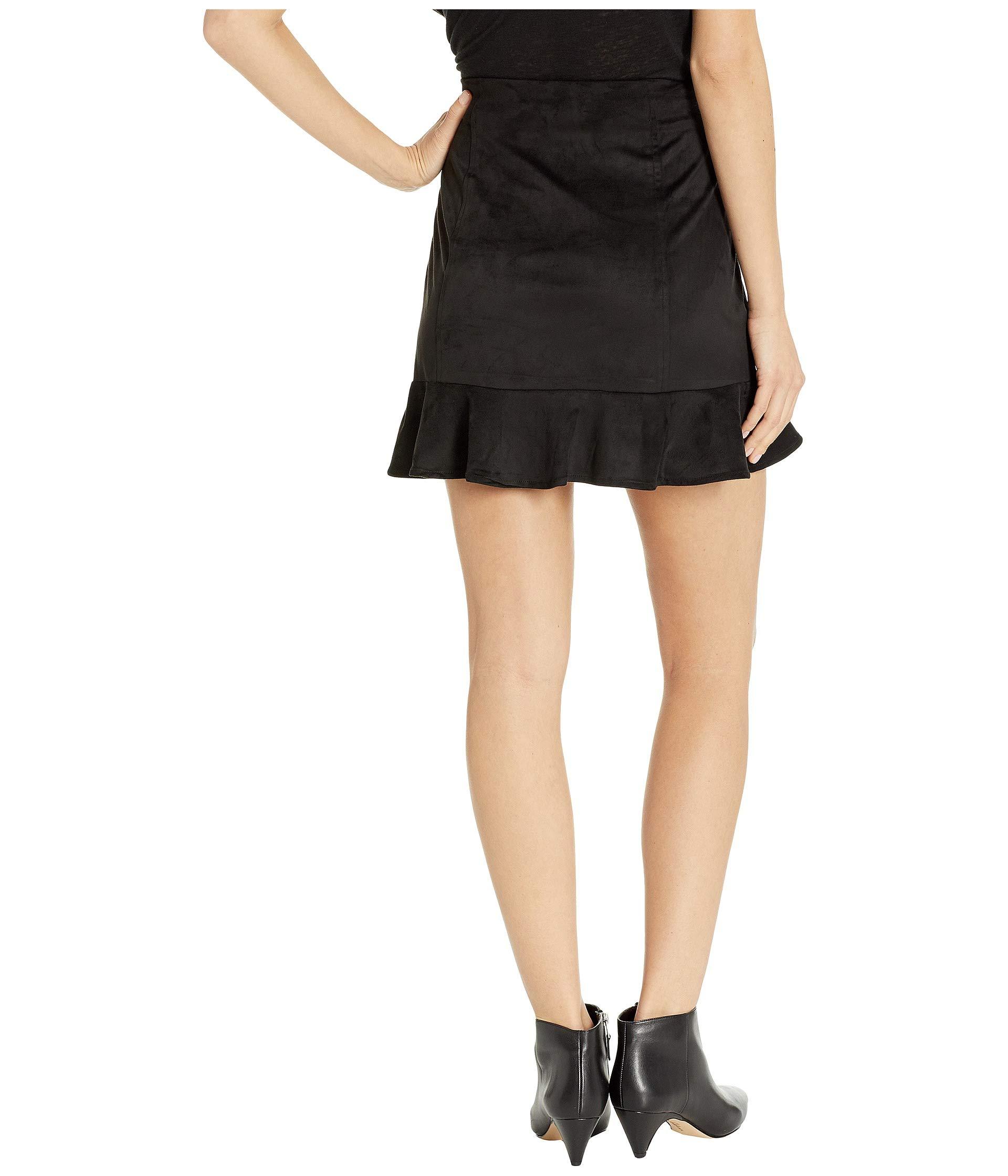 Skirt Bb Sagittarius Black Ruffle Faux Dakota Suede Jack By AZt0xx