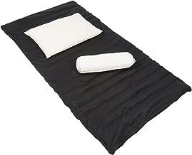 Handelsturm Buckwheat Futon Set: Rollable Matress + Pillow + Bolster with Buckwheat Filling & Cotton Covers