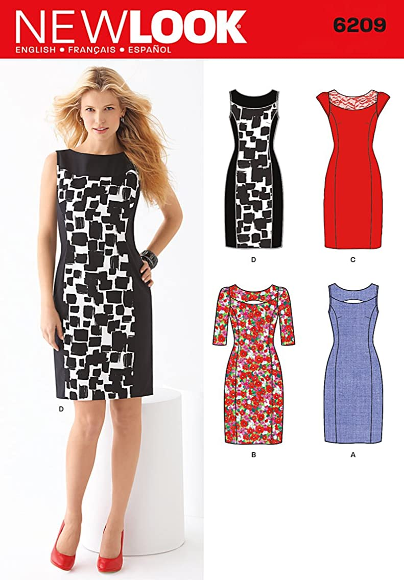 Simplicity Creative Patterns New Look 6209 Misses' Dress, A (8-10-12-14-16-18)