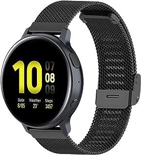 Mesh klockarmband rostfritt stål loop band snabbutlösning metallrem byte armband kompatibelt med Garmin/Samsung/Huawei klo...
