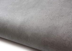 ورق جدران لاصق ذاتي اللصق من روسيراوسا، قابل للإزالة ولصقه مصنوع من البولي فينيل كلورايد باللون الرمادي الفاتح (LW821: 2.0...