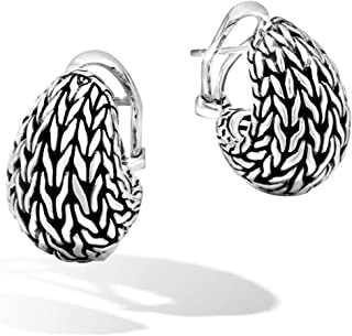 John Hardy Women's Classic Chain Silver Graduated Buddha Belly Earrings