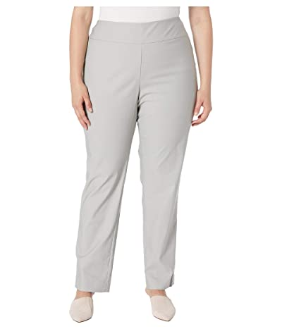NIC+ZOE Plus Size Wonderstretch Pants (Grey Smoke) Women