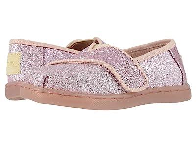 TOMS Kids Alpargata (Infant/Toddler/Little Kid) (Ballet Pink Glitter) Girl