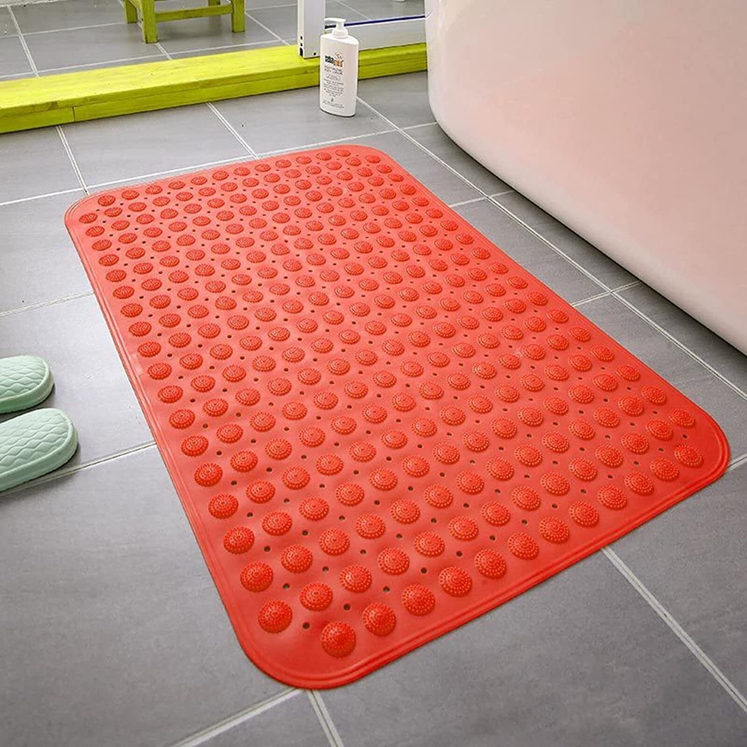 QSCV Non Slip with Suction Super special price Cups Online limited product Hole Mats Bathtub Drain Bath and