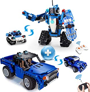 VERTOY STEM Car Building Kit Bundle with Robot or Police Car Buiding Set - Ideal Gift for 6-14 Years Old Boys, Value 2 Packs