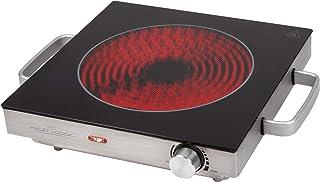 ProfiCook PC-EKP 1210 infraröd enkelkokplatta, lämplig för alla typer av kastrull, glaskeramisk kokyta, 2000 watt, rostfri...