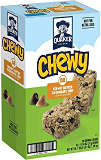 Quaker Chewy Granola Bars, Peanut Butter Chocolate Chip, 58 Bars