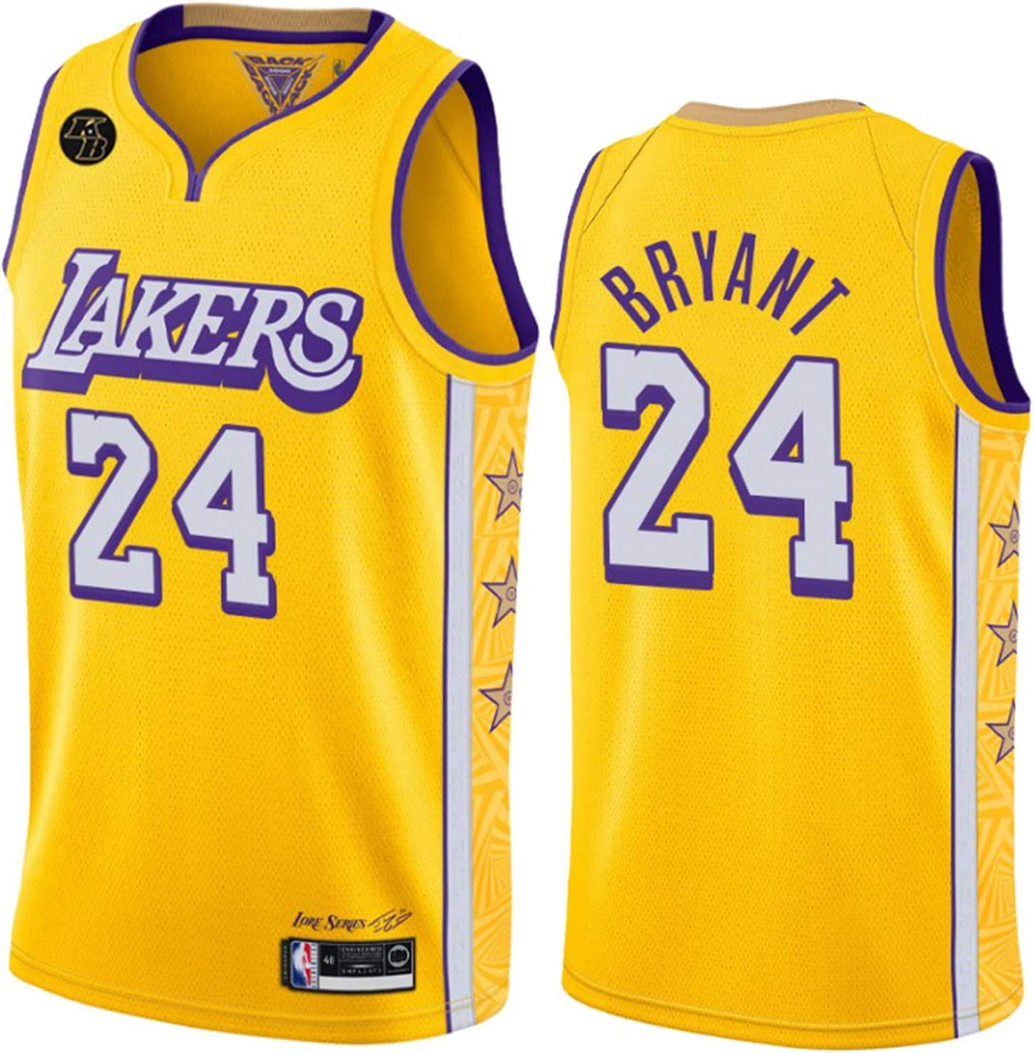 Lakers 2021Basketball Jerseys for Men,Kobe James Davis Sleeveless City Edition Shirts with Champion Cup and KB Logo(S-XXL)