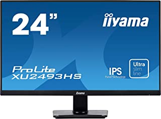 iiyama モニター ディスプレイ XU2493HS-B1 (23.8インチ/フルHD/IPS方式/フレームレス/DisplayPort,HDMI,D-sub/3年保証)