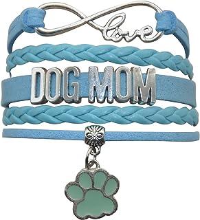 HHHbeauty Pet Dog Mom Paw Bracelet - Dog Memorial Paw Charm Bracelet for Women, Men, Girls, Boys, Dog Lovers