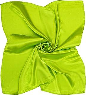 Heyjewels Damen Schal Uni Farben Quadratischer Tuch Bandana Halstuch Kopftuch perfekt Geschenk 60 x 60cm