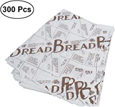 BESTONZON 300 Pcs Disposable Food Paper Oil-Proof Snacks Cookie Baking Paper Sheets (Coffee English)