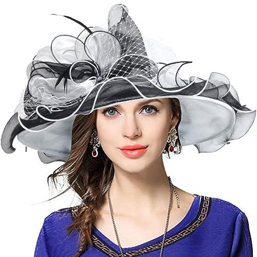 bc1e42b94a0 VECRY Women s Church Derby Dress Fascinator Bridal Cap British Tea Party  Wedding Hat