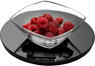 Weigh To Go! Digital Food Scale - Black Digital Kitchen Scale Measures Lb, Oz, Ml and Gram Scale Features Easy Clean Smooth Glass Top, Touch Button Operation, Tare Button and Super Sleek Low Profile