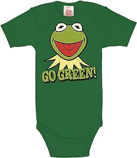 Logoshirt - Kermit Baby-Body Kurzarm - Kermit der Frosch - Muppet Show - Go Green Baby Strampler - grün - Lizenziertes Originaldesign