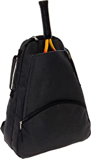 LISH Men's Court Advantage Tennis Backpack - Racket Holder Equipment Bag for Tennis, Racquetball, Squash