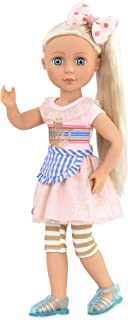 Glitter Girls Dolls by Battat – 14-inch Posable Doll Chrissy with Outfit – Pink Dress and Hair Bow – Toys, Clothes, and Ac...