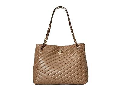 Tory Burch Kira Chevron Tote (Classic Taupe) Handbags