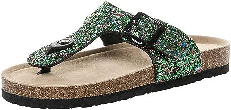 Loosebee◕‿◕ Women's Casual Comfort Buckle T Strap Thong Strap Sandals Flip Flop Platform Footbed
