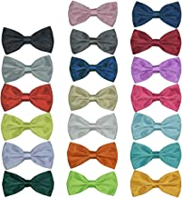 Men's Bow Ties Adjustable Pre-tied bowties for Boys Man 20 Packs