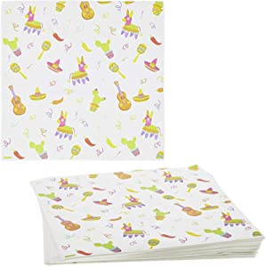 250 Fiesta Deli Paper Sheets, Greaseproof Food Wrapping Paper (12 x 12 Inch)