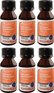 De La Cruz Merthiolate Tincture First Aid Antiseptic, Made in USA 1 FL. OZ. (6 Bottles)