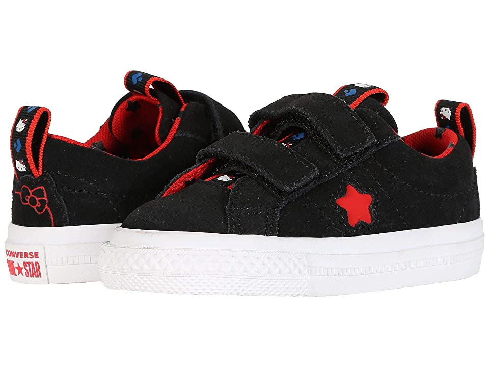Converse Kids Hello Kitty(r) One Star Ox 2V (Infant/Toddler) (Black) Girls Shoes