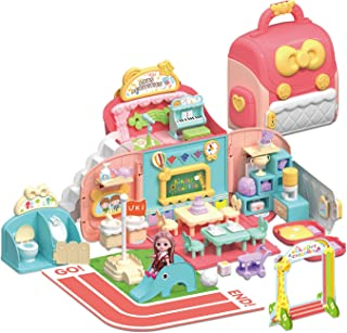 WOWZON Doll Houses Portable for Indoor for Girls...