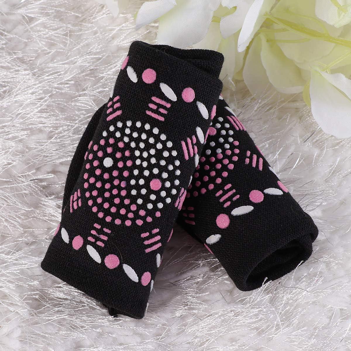 HEALLILY Calcetines de autocalentamiento Calcetines de turmalina Calcetines de masaje Calcetines antideslizantes