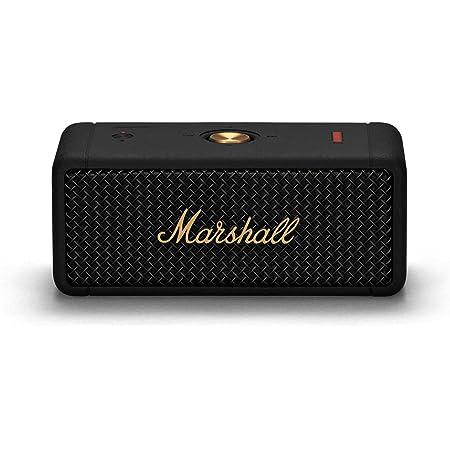 Marshall Emberton 20 Watt Wireless Bluetooth Portable Speaker (Black and Brass)