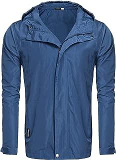 DAZZILYN Men's Lightweight Hooded Hiking Cycling Jacket Windbreaker Outdoor Windproof Coat