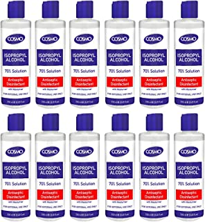 Cosmo Isopropyl Alcohol 70% Solution Liquid 250ML PACK OF 12, Advanced Formula, Germs Protection, Antiseptic/Disinfectant ...