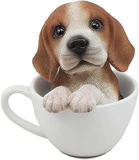 Ebros Adorable Teacup Beagle Dog Statue 5.5