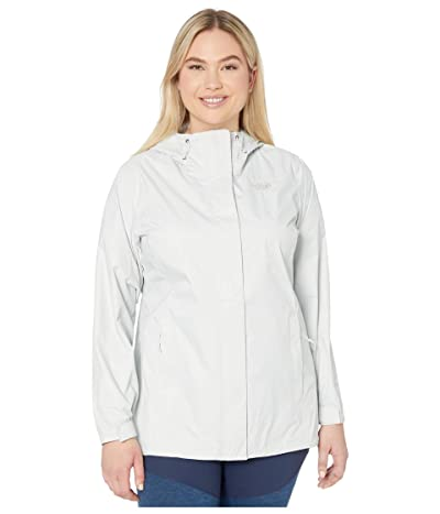 The North Face Plus Size Venture 2 Jacket (Tin Grey) Women