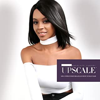 UpScale 100% Unprocessed Brazilian Virgin Remy Human Hair Lace Front Wig Natural Color (Natural Straight 12