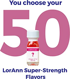 LorAnn Super Strength flavors 50 pack of 1 dram bottles (.0125 fl oz - 3.7ml) YOU CHOOSE THE FLAVORS