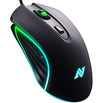 ABKONCORE M30 Gaming Mouse Wired, USB Computer Mice for Game & Daily, 6 Programmable Buttons, Chroma RGB Backlit, 3500 DPI Adjustable, Comfortable Grip Ergonomic Mice for PC, Laptop, Mac, Windows