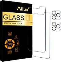 Ailun 2 Pack Screen Protector Compatible for iPhone 13 Pro Max [6.7 inch] Display 2021 with 2 Pack Tempered Glass Camera...