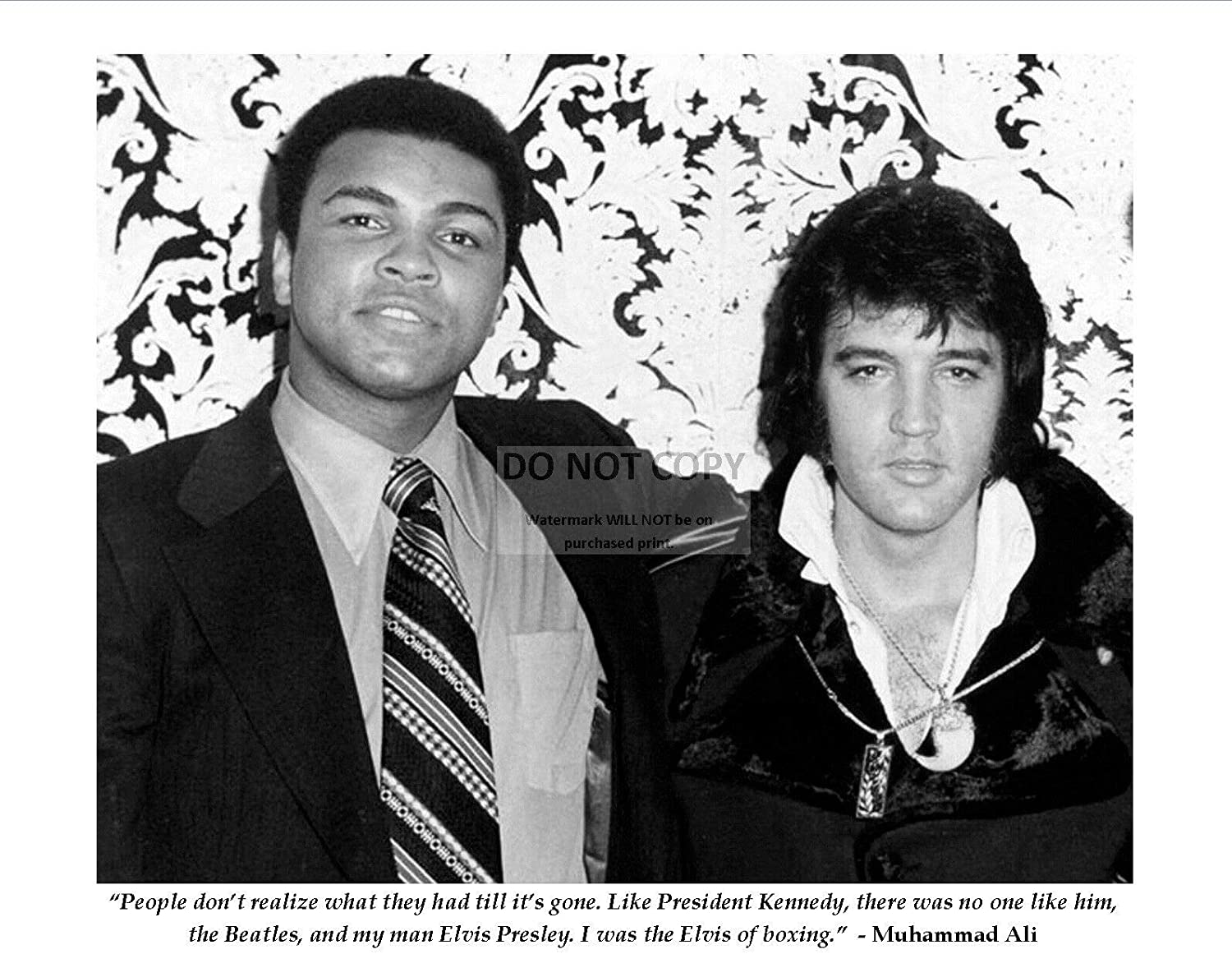 bucraft OFFicial site Long Beach Mall Muhammad ALI Famous Elvis from Presley Lege Boxing Quote