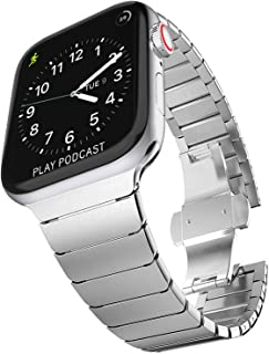 Surace Stainless Steel Link Bracelet for Apple Watch Band 44mm Series 4 Series 5 with Butterfly Folding Clasp Compatible f...