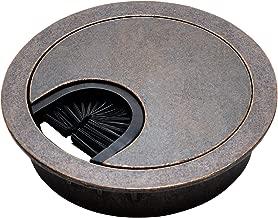 Antique Bronze Metal Cable Grommet - 2 Piece