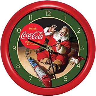 Festive Christmas Holiday Coca Cola Santa Claus Coke Wall Or Desk Clock