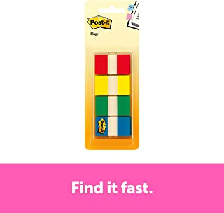 Post-it Flags, Assorted Primary Colors.94 in. Wide, 80/On-The-Go Dispenser, 2 Dispensers/Pack, (680-RYGB2)