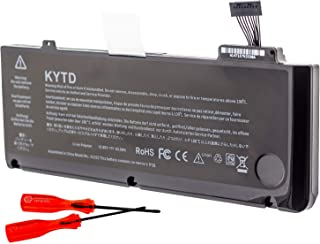 KYTD Compatible with A1322 A1278 Laptop Battery  Mid 2009  Early 2010  Early Late 2011  Mid 2012  Unibody MacBook Pro 13   fits MB990  A MB990LL A MB990J A Two Free Screwdrivers  63 5Wh 6000mAh