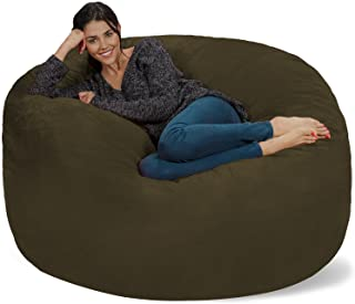 Chill Sack Bean Bag Chair: Giant 5' Memory Foam Furniture Bean Bag - Big Sofa with Soft Micro Fiber Cover - Olive