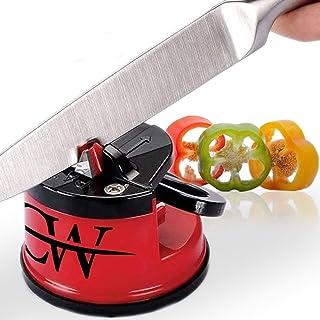 Afilador de cuchillos – Herramienta manual de afilado – Afila cualquier hoja de uso para pan de acero serrado, cuchillos de bolsillo – Cocina y electrodomésticos