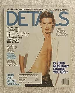 David Beckham (Soccer) - Has Got the World by the Balls - Details Magazine - August 2005 - How Pot Went Gourmet article